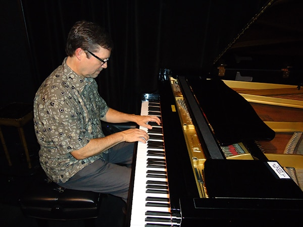 Jon Pemberton on piano